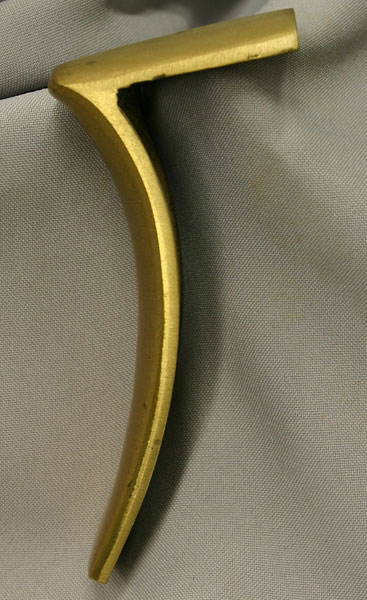 Early Flint Sell-Golden Age Rifle Buttplate Side Profile